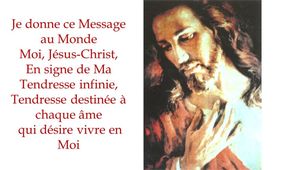 Lœuvre De Tendresse De Jésus Le Message De Tendresse De Jésus